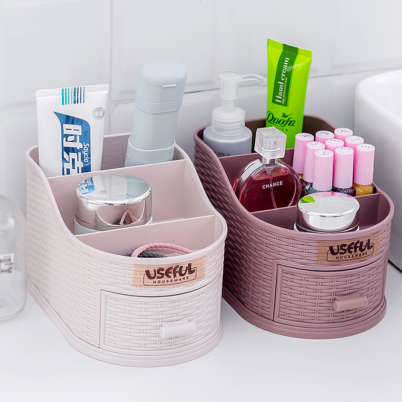 Cosmetica Organizer Desktop Kaptafel Make Storage Box Plastic Lade Soort Diversen Nagellak Lippenstift Opslag Organiseren