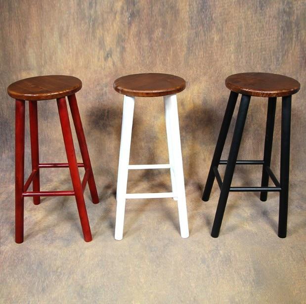 Front desk chair high chairs high stool bar stool restaurant retro tall bar stools wood bar