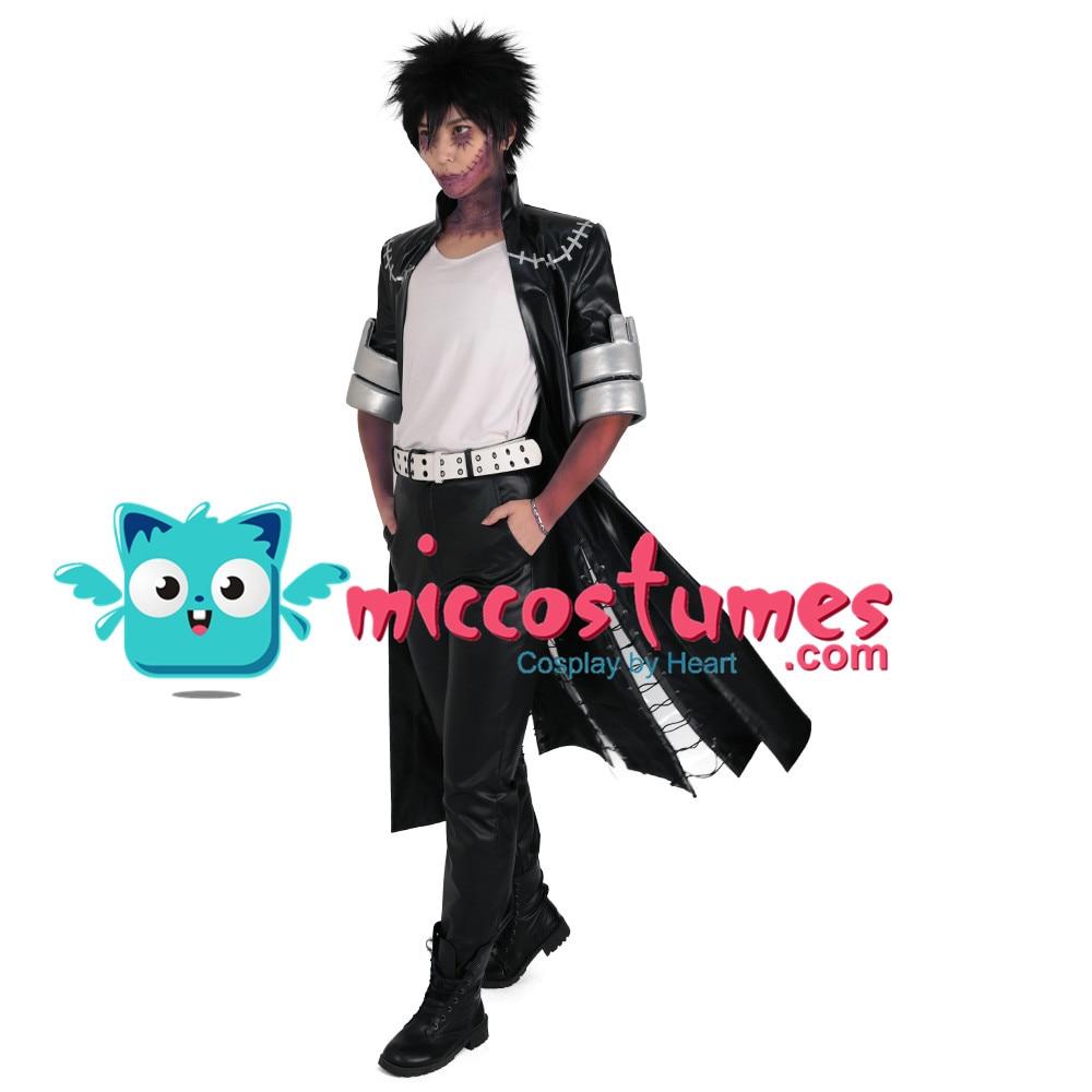 My Hero Academia Dabi Cosplay Costume Men Black Coat Outfits