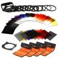 K & F Conceito 40 in1 Graduado Gradual filtro Quadrado filtro de Cor ND Set Titular Kit Suporte Para Cokin P