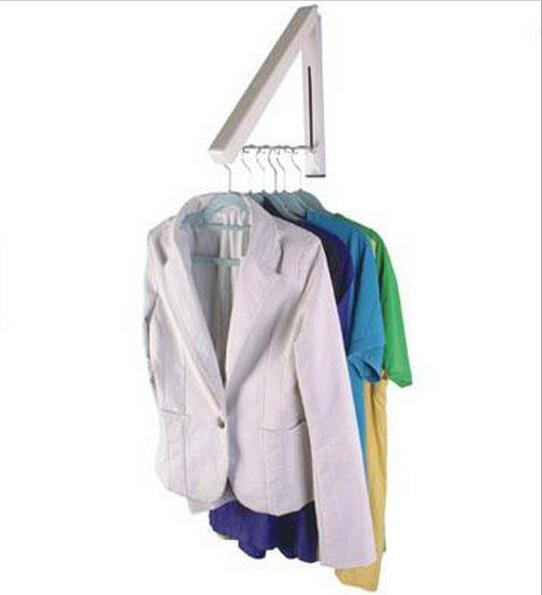 Magic Hidden Wall Hangers Folding Clothes Drying Racks Household