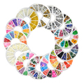 New Nail Art Rhinestones Glitters Acrylic Tips Manicure Wheel Fimo Pearl Studs Alloy Nail Decoration