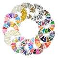 Nueva Nail Art Glitters Extremidades de Acrílico Manicura Rueda Fimo Perla Espárragos Aleación Decoración de Uñas