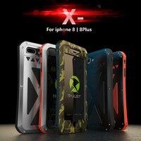 R JUST phone Case For iPhone 8 8 Plus X 10 AMIRA Luxury Hard Metal Armor Shockproof Aluminum Waterproof Protective Cases funda
