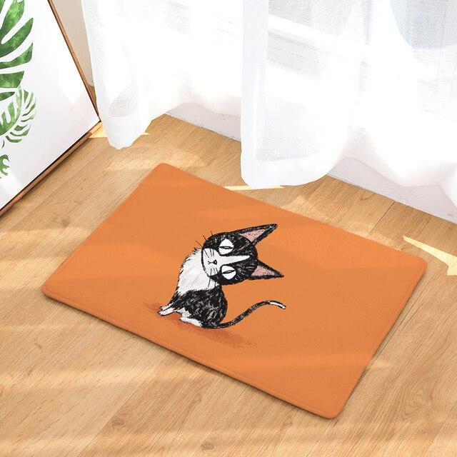 Simple Style Superman Kitten Print Carpets Anti Slip Floor Mat