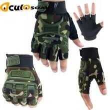 2019 Hot 5-13 Years Old Kids Autumn Winter Tactical Gloves Children Half Fingers Mittens Boys Girls Anti-slip Camo Sport Guantes