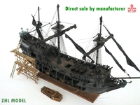 ZHL Top Level of the Black Pearl model wood ship (all scenario version English detailed manuals)