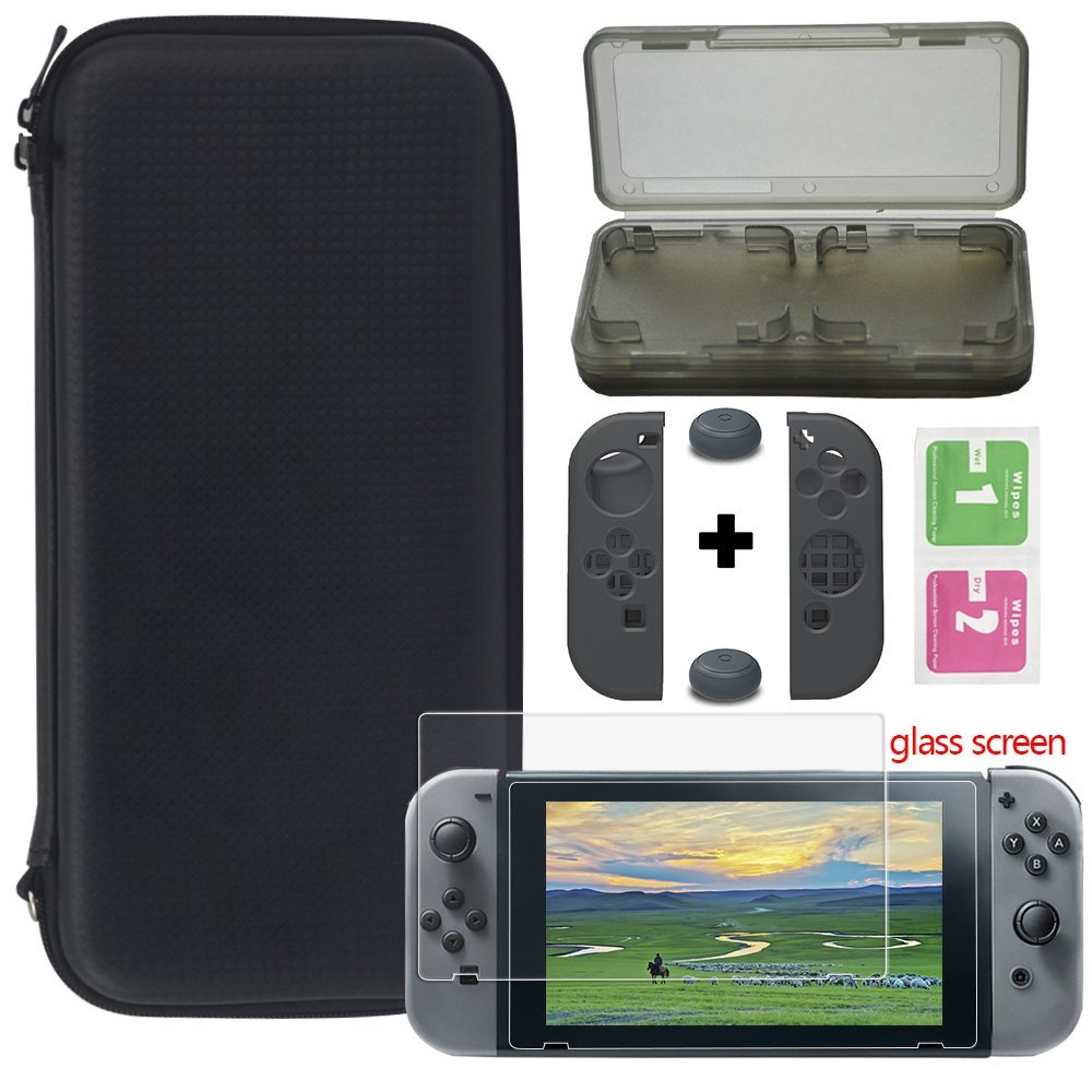 2017 YTTL Carrying Cas Carrying Game Traveler Deluxe Travel Case with Screen Protector and Soft Card For Nintendo Switch NS Sets