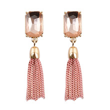 Women's fashion long chain earrings tassel chain earrings, free shipping