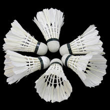 6Pcs Training White Goose Feathers Badminton Shuttlecocks Birdies Ball Outdoor Sports Entertainment Game Supplies Best Price