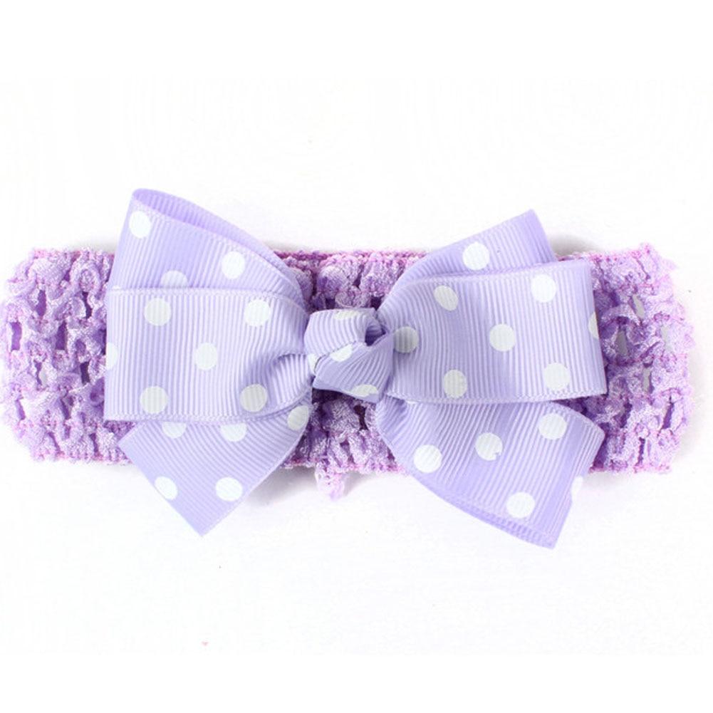 Print Dots Pinwheel Grosgrain Ribbon Bow Headband For Toddler Baby Children Knitted Stretch Turban Hair Band Hair Accessories leaf print turban headband