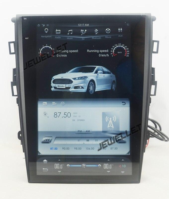 """12.1 """"tesla style vertical écran android 6.0 Quad core De Voiture GPS radio Navigation pour ford Mondeo Fusion 2013- 2017 1"""