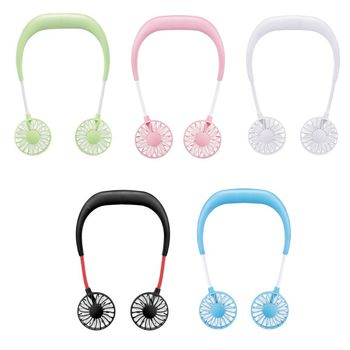 hands-free neck band hanging style usb rechargeable neck fans and mini air cooler