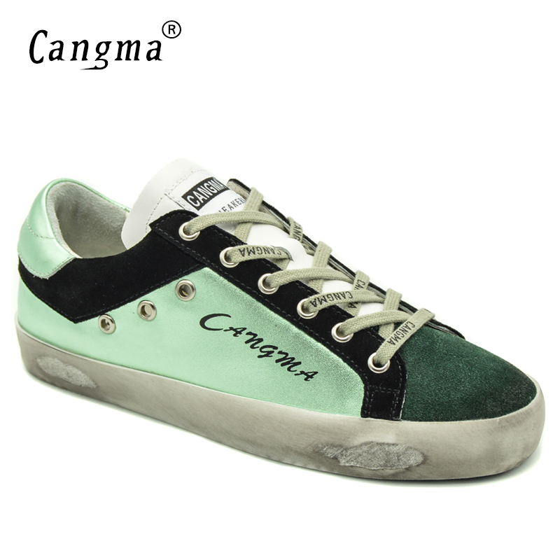 CANGMA Italy Original Comfort Durable Female Flats Green Casual Genuine Leather Suede Shoes Women's Handmade Breathable Footwear green comfort ботинки green comfort модель 274885048