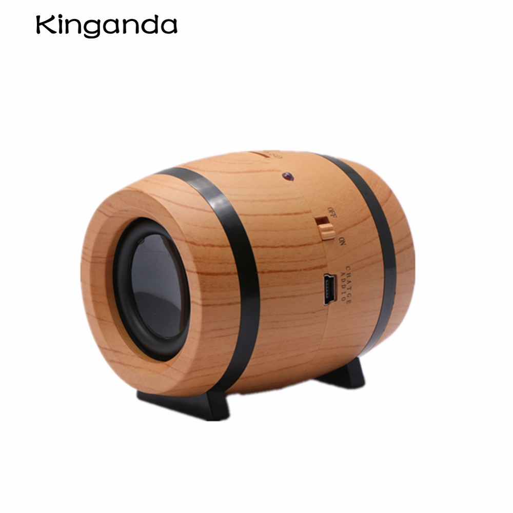 Beer Barrel Bucket Style Mini Wireless Bluetooth 4.1 Music Speaker Stereo HiFi Base Micro SD TF Card Speakers Accessories Kits