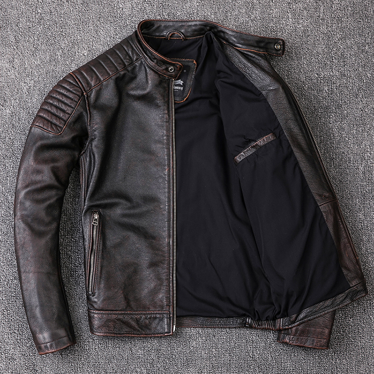 HTB1Fc IXE rK1Rjy0Fcq6zEvVXaF Brand new cowhide clothing,man's 100% genuine leather Jackets,fashion vintage motor biker jacket.cool warm coat