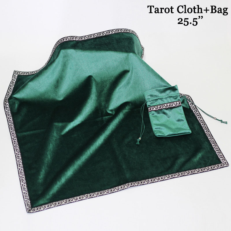 Tarot Deck TableCloth Witch Wizard Game Cards Bag Medieval Altar Divination Cosplay Props Halloween Wicca Square Cloth Pouch Set