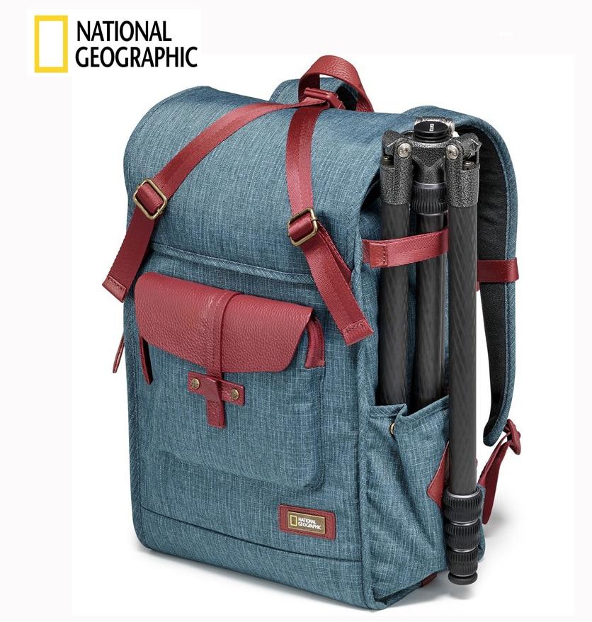 NATIONAL GEOGRAPHIC NG AU5350 DSLR caméra sac à dos pour ordinateur portable avec couverture de pluie en plein air voyage photo sac