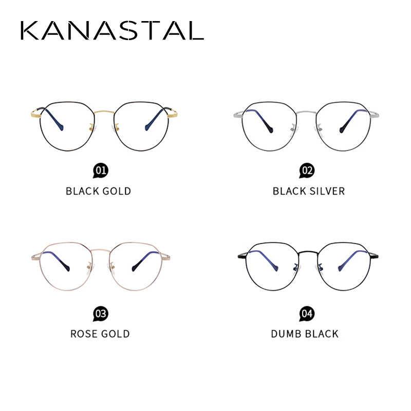 Kanastal Anti Cahaya Biru Kacamata Bingkai Wanita Ultralight Vintage Kacamata Pria Game Optical Frame 100% UV400