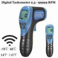 2.5-99999 rpm 타코미터 wifi 비접촉 디지털 레이저 사진 타코미터 rpm 타크 테스터 미터 속도 게이지 도구