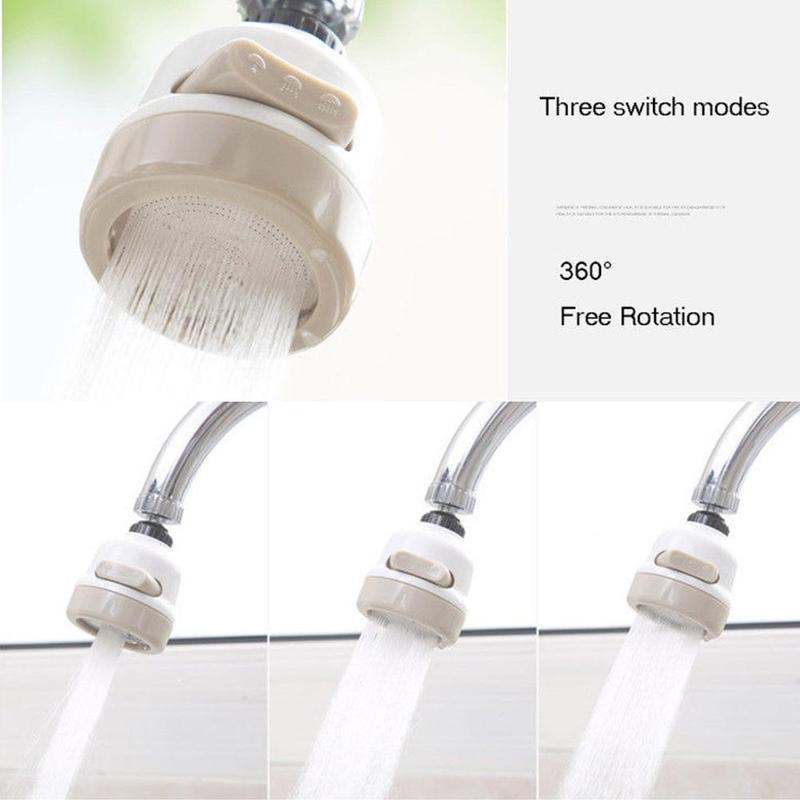 360 Rotate Water Faucet Sprinkler Saving Device Nozzle Aerator Diffuser Tools Fixed Rotating Type Water Saving Shower Heads Tool