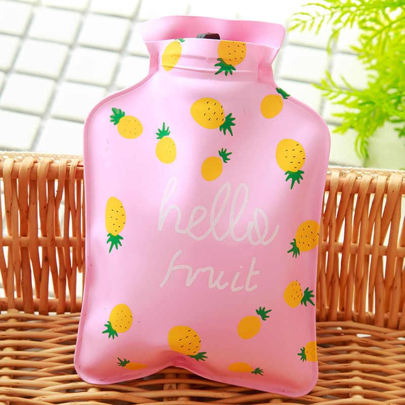 Hermosa mano de dibujos animados caliente botella de agua caliente Mini botellas de agua, portátiles mano chicas de mano de bolsillo de pies bolsas de agua caliente