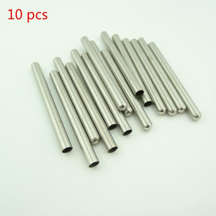 10 unids inmersión bolsillo en la manga de tubo de acero inoxidable para un máximo de 6mm DS18B20/NTC PT100 Sensor de temperatura encapsulación 30mm 50mm