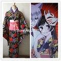 Бесплатная доставка Kamisama поцелуй любовь Kamisama Hajimemashita нанами Momozono цветок кимоно косплей костюм