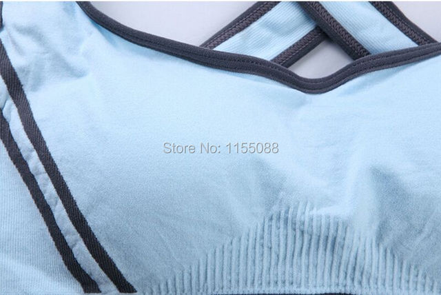 50PCS/lot Hot Selling Women Padded Top Vest Fitness Bra Stretch Cotton Free Shipping popular Bra