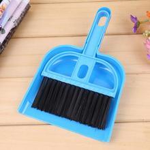 Mini Broom Dustpan Set Desktop Sweep Cleaning Brush Keyboard Table Dust Remove Floor Cleaner Tools