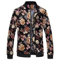 Floral jacket men Spring New cotton 2019 Male Flower Jacket Fashion Men Print Coat Plus Size Jacket