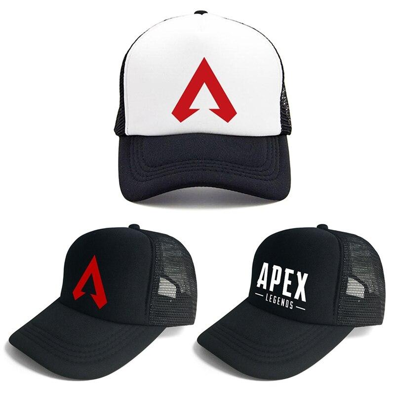 Kopfbedeckungen Für Herren Apex Legends Druck Hut Baseball Cap Atmungsaktiv Mesh Hysterese Kappen Unisex Kreative Sonnenblende Für Knochen Casquette Hip Hop Cap