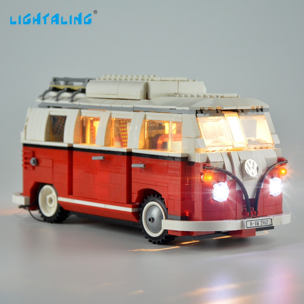 Lightaling LED Light Set Kompatibel med Brand Camper Van 10220 och 21001 Light Kit för Toy Gift