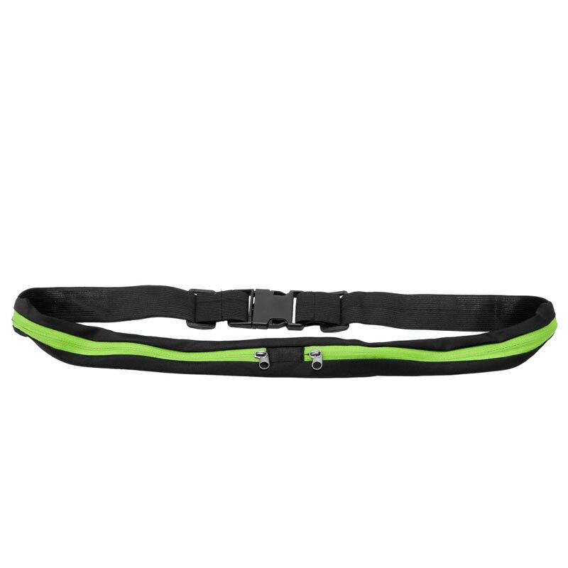 Man/ Women Waist Bag Double Pocket Bag Waterproof Phone Belt Personal Purse Waist Pack Unisex Fashion Casual Bag 2017