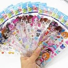 4 Листов Принцесса Платье пузырь наклейки Симпатичные DIY Наклейки Милые Девушки одеваются Девушка Переодевания Детей Творческий Подарок
