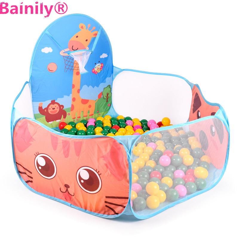 [Bainily]Foldable Kids Ocean Ball Pools Kids Play Tent Indoor Outdoor toy For Children Gift House Play Hut Pool Play Tent