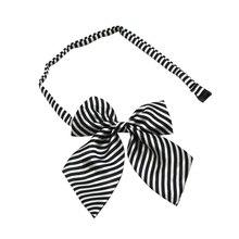 Повседневная модная детская форма для маленьких девочек, полоса галстук-бабочка, аксессуары для девочек с бабочкой