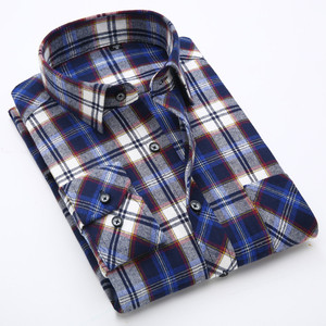 Image 4 - Plus size 5XL 6XL 7XL 8XL 100% Cotton Plaid Fannel Thick Long Sleeve Men Shirt Fat Guy Fashion Autumn/Winter Clothes 120kg 130kg