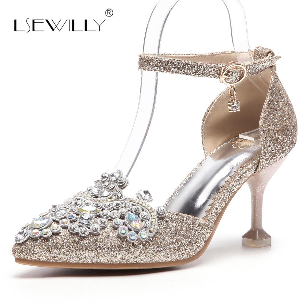 Lsewilly Gladiator Women Sandals Crystal Thin High Heels Shoes Fashion Summer Rhinestone Party Wedding Shoes Ladies