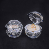 Natural CrystalFree shipping Retail Super High Quality Jewelry Box of Natural Crystal Wedding Ring Box Marriage Jewellery Box