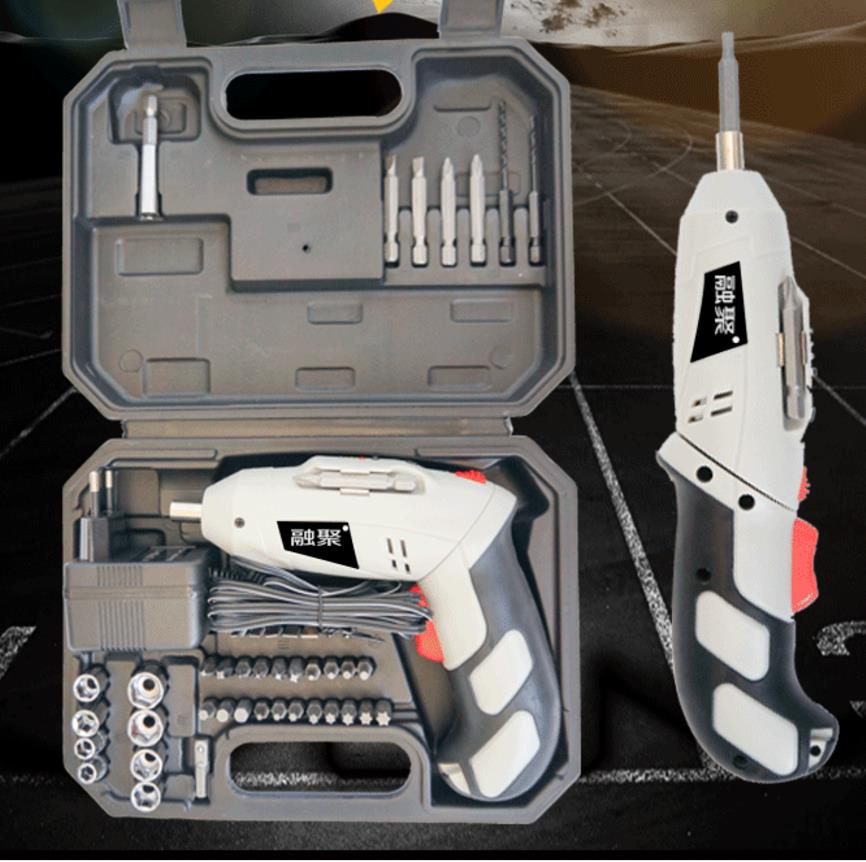 Urijk 4.8V Electric Screwdriver  With Chargeable Li-ion  Battery Cordless Drill DIY Power tools with 45 bits eleoption 2pcs 18v 3000mah li ion power tools battery for hitachi drill bcl1815 bcl1830 ebm1830 327730