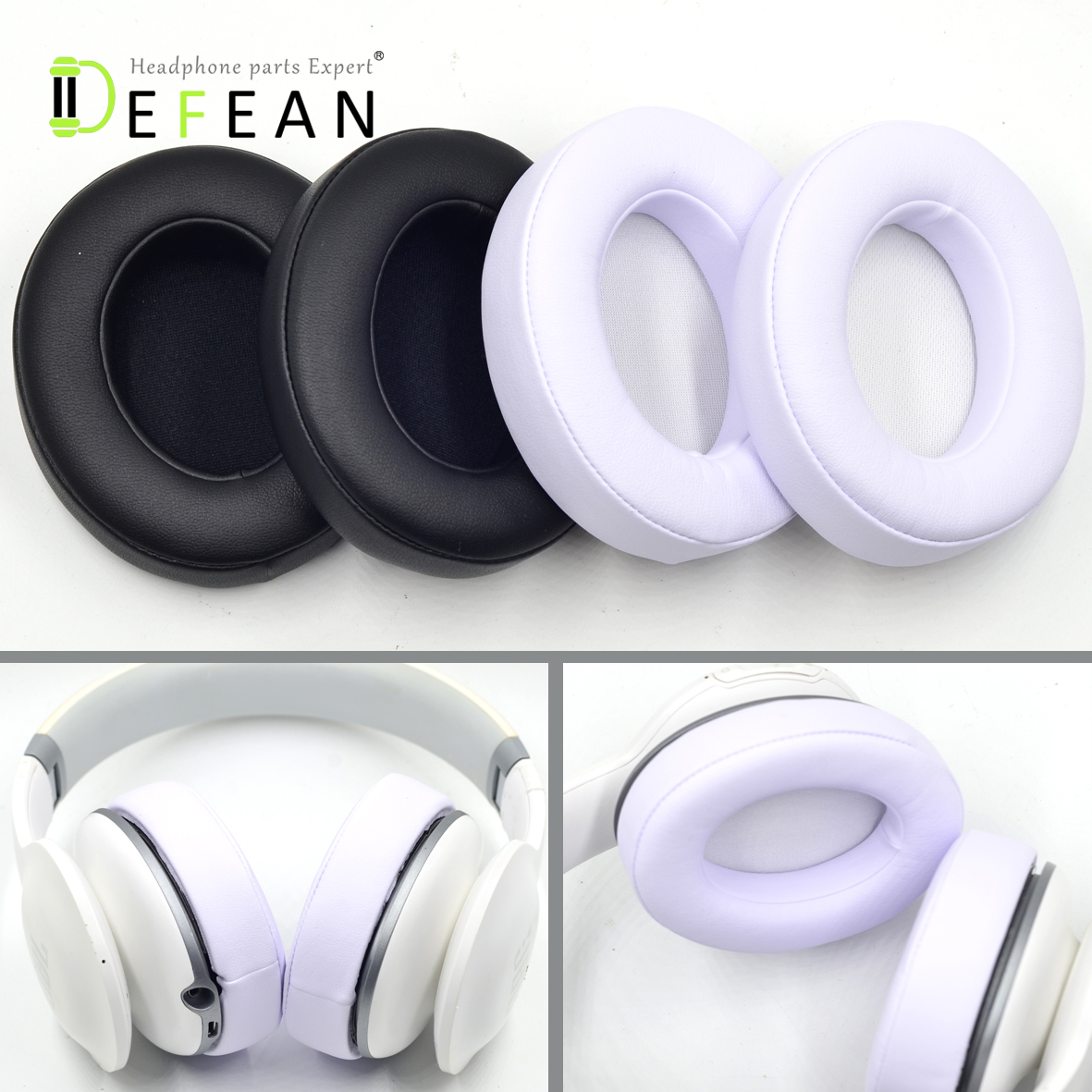 """40 mm 2 Foam Replacement Ear Cushions Earpads Covers for Headphones 1.6/"""" Inch"""