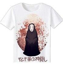 2017 Anime Unisex Tops Tee Printed Spirited Away T Shirts Tops For Short Sleeve Miyazaki Hayao t-shirt Japan Cartoon Shirt tees