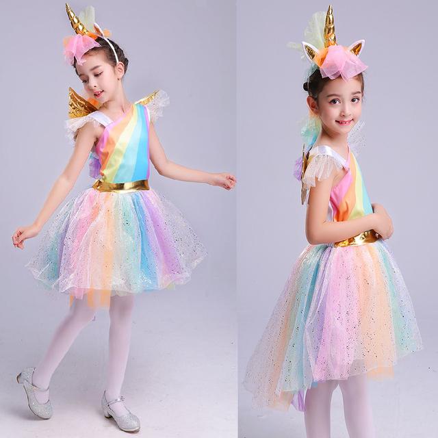 Halloween Rainbow Unicorn Dress