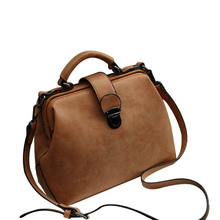Women Handbags Fashion Doctor Bags PU Leather Vintage Shoulder Crossbody Messenger Bag LXX9
