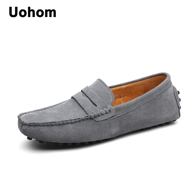 Uohom 2018 Men Casual Shoes Fashion Men Shoes Leather Men Loafers Moccasins Slip On Men's Flats Loafers Male Shoes Driving Shoes men shoes casual 2016 fashion handmade men shoes leather men loafers moccasins slip on men s flats male shoes