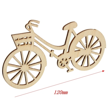100pcs/bag 120mm Brand New Bicycle Die Cutting Plywood Template DIY Crafts Handicraft Wood Crafts Accessories A111