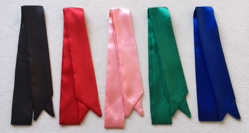 Colorful Ribbon Skinny Scarf | Neck Scarves