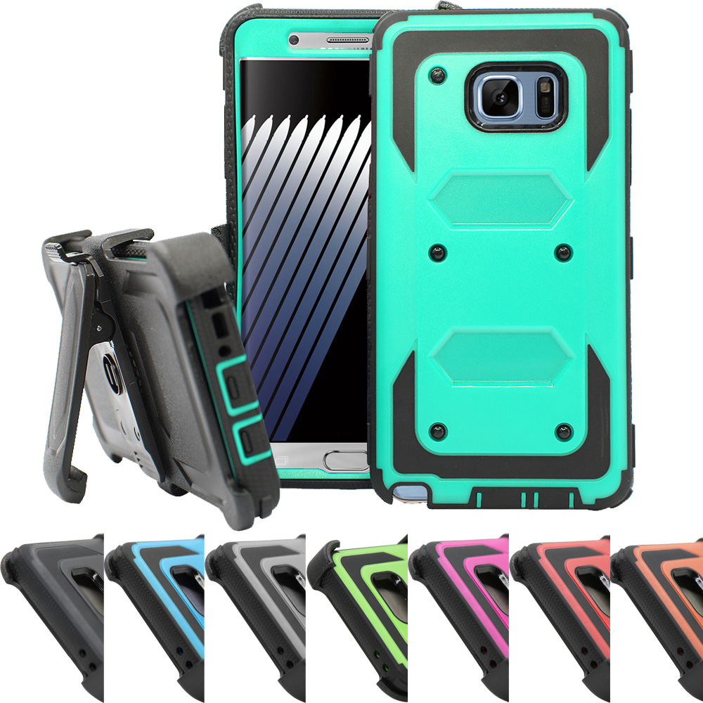 Heavy Duty Shockproof Armor Protective Case Tough Shell Cover+Holster Belt Clip For Samsung Galaxy Note 7 / Galaxy Note FE 2017