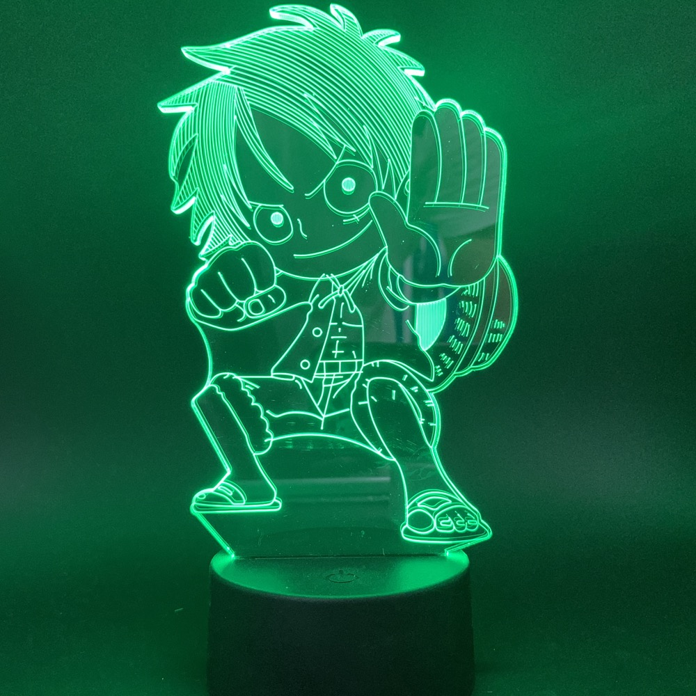 uma peca anime luffy figura 3d led 02